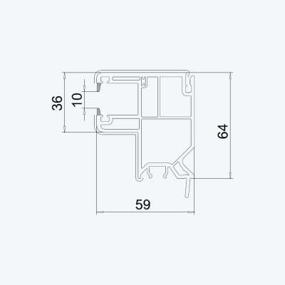 volet roulant coulisse singuli re mini pvc avec cale wfo post p sp z o o. Black Bedroom Furniture Sets. Home Design Ideas