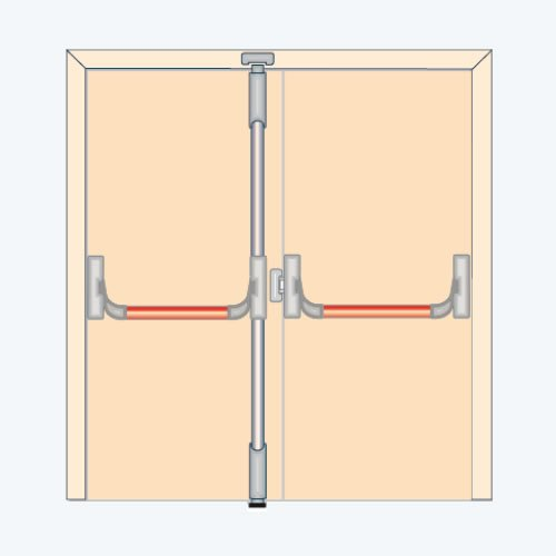 Portes en pvc ferrures antipanique panama wfo post p for Porte anti panique
